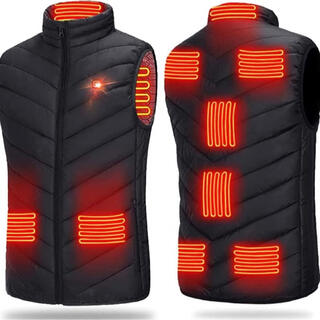 電熱ベスト防寒着 電熱ジャケットヒーターベストUSB加熱 温度3階段調整サイズL