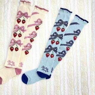 Shirley Temple - シャーリーテンプル ストロベリー リボン ソックス 靴下