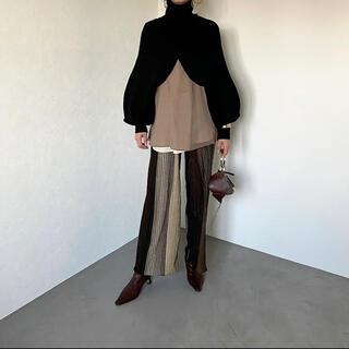 TODAYFUL - CFT. high neck layer short knit black