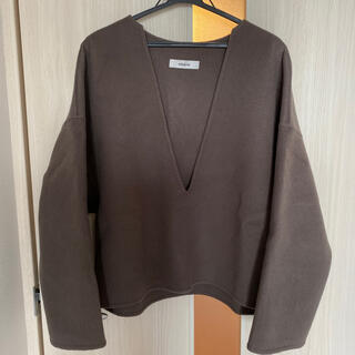 Ron Herman - ebure エブール 大人気 ウールVネックシャツ 36 brown