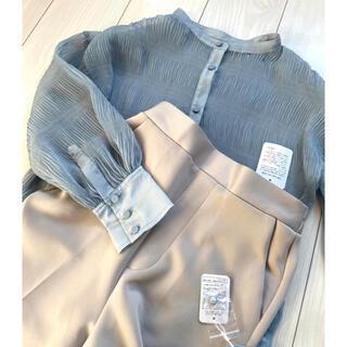 natural couture - 新品 ナチュラルクチュール シアーシャツ テーパードパンツ ナイスクラップ