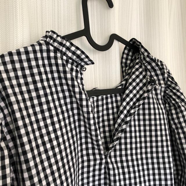 ZARA(ザラ)のザラ ブラウス Lサイズ ギンガムチェック レディースのトップス(シャツ/ブラウス(長袖/七分))の商品写真