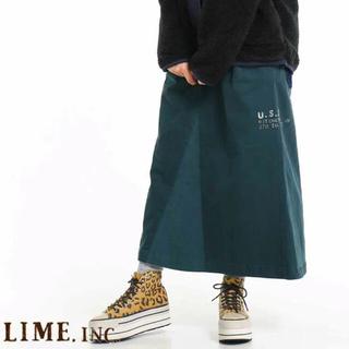 キューブシュガー(CUBE SUGAR)の☆新品☆  らいむいんくスカート(ロングスカート)