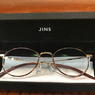 JINS - JINS/メガネフレーム 丸縁 べっ甲柄