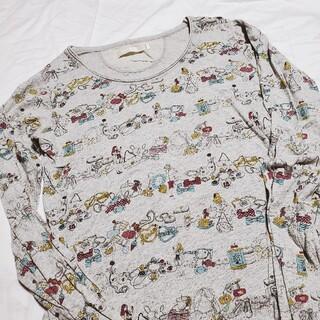 Used 総柄 長袖Tシャツ カットソー(Tシャツ(長袖/七分))