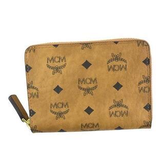 MCM - 新品未使用 MCM ラウンドファスナー コインケース カードケース コニャック