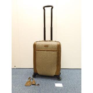 グッチ(Gucci)のグッチ 4輪キャリーバッグ ディアマンテ グレー薄茶 旅行用四輪 美品@ 5(トラベルバッグ/スーツケース)