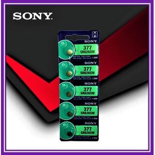 ソニー製 SR626SW 新品 (377) ボタン電池×5個(1シート)(腕時計)