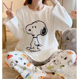 スヌーピー柄★大人気 新品 パジャマ♪レディース  部屋着 セットアップ(パジャマ)