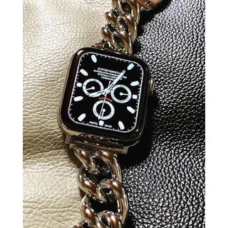 アップルウォッチ 最高級 シルバーチェーンブレスレット  ベルト (腕時計)
