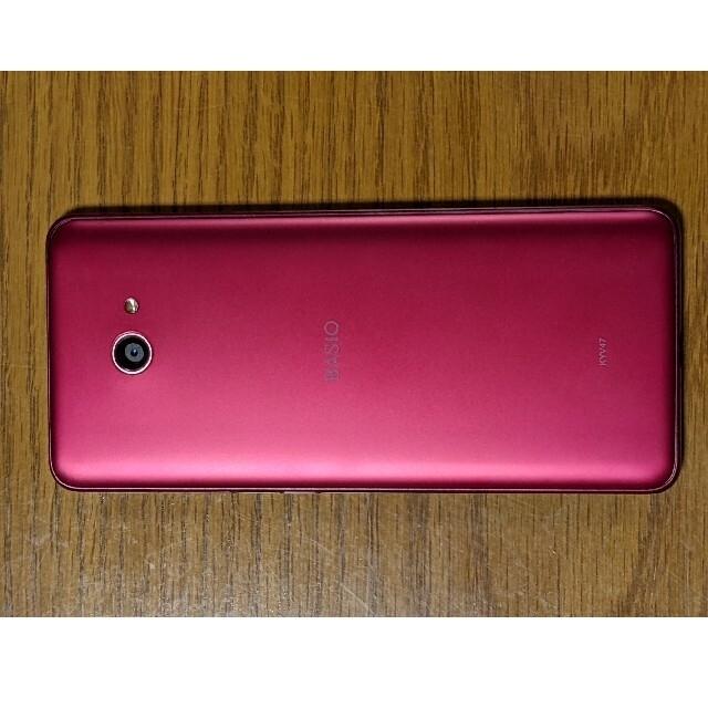 京セラ(キョウセラ)のKyosera BASIO4 ワインレッド スマホ/家電/カメラのスマートフォン/携帯電話(スマートフォン本体)の商品写真