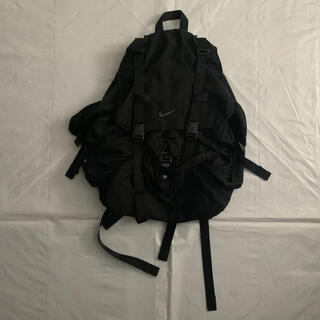 NIKE - 90's Nike Black Nylon Parachute Backpack