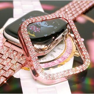 アップルウォッチ最高ランクダイヤカバー&バンドセット コマ調整器付 サイズ各種(腕時計)