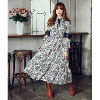 Herlipto Winter Floral Long-sleeve Dress
