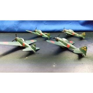 零式艦上戦闘機(ゼロ戦)52型.4機セットプラモデル完成品(模型/プラモデル)