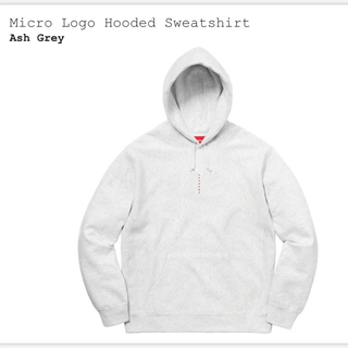 シュプリーム(Supreme)のMicro Logo Hooded Sweatshirt Mサイズ(パーカー)