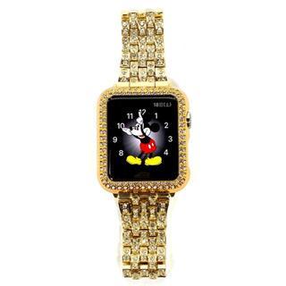 アップルウォッチ 最高ランクダイヤカバーバンド コマ調整器付 サイズ各種(腕時計)