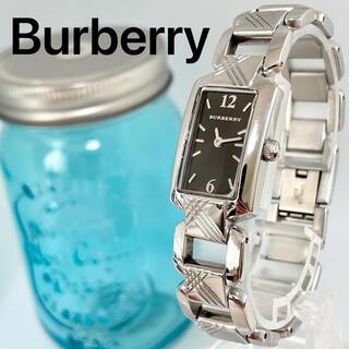 バーバリー(BURBERRY)の244 バーバリー時計 レディース腕時計 新品電池 スクエア チェック柄(腕時計)