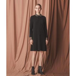 Drawer - 美品♡EPOCA 襟・袖レース ワンピース リトルブラックドレス