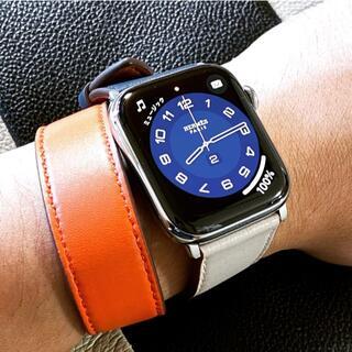 アップルウォッチ ダブルループ レザーベルト 本革 42/44mm (腕時計)