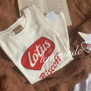 ジェラートピケ(gelato pique)のLOTUS♡ワンポイントTシャツ♡ロータス(ルームウェア)