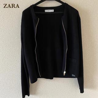 ZARA - ZARA  カーディガン 黒 シンプル