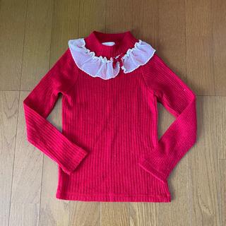 シャーリーテンプル(Shirley Temple)の☆シャーリーテンプル☆ニット セーター 赤 120 (ニット)