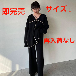 STUDIOUS - CLANE クラネ 新作即完売 人気 DOUBLE FACE LINE KNIT