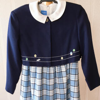 familiar - ファミリア 120 入学式 ワンピース ボレロ ブルー