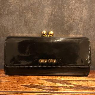 miumiu - miu miu がま口長財布 ブラック