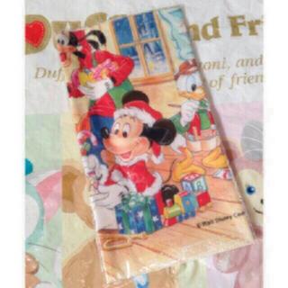 ディズニー(Disney)の新品 ディズニーランド クリスマス レトロ ハンカチ②(キャラクターグッズ)