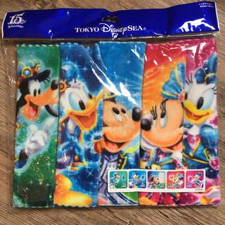 ディズニー(Disney)のディズニーシー 15周年 ミニタオルセット(キャラクターグッズ)