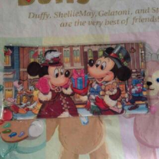 ディズニー(Disney)の新品 ディズニーランド クリスマス レトロ ハンカチ(キャラクターグッズ)