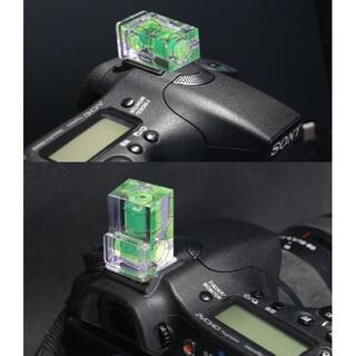 カメラ水準器 レベラー 2WAY 2軸 ホットシュー 一眼レフ デジタル カメラ(その他)