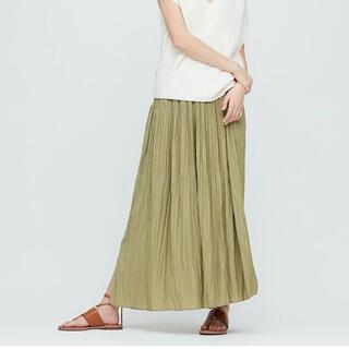 UNIQLO - UNIQLO ワッシャーサテンスカートパンツ 未使用