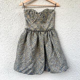 ミュウミュウ(miumiu)のミュウミュウ正規品ワンピース入手困難ドレス限定完売ゴールド(ミディアムドレス)