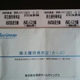 サイタマセイブライオンズ(埼玉西武ライオンズ)の2枚🔷西武鉄道株主優待乗車証③(鉄道乗車券)