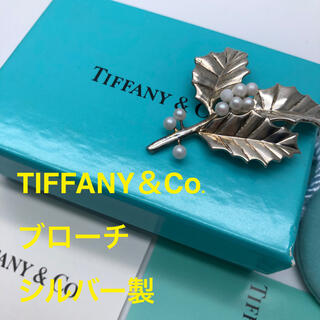 ティファニー(Tiffany & Co.)の【TIFFANY&Co.】ティファニー ブローチ シルバー 葉 中古(ブローチ/コサージュ)
