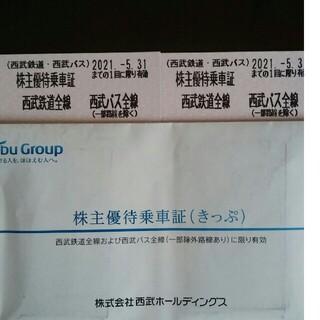 サイタマセイブライオンズ(埼玉西武ライオンズ)の2枚🔷西武鉄道株主優待乗車証④(鉄道乗車券)
