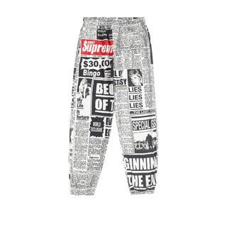 Supreme - supreme newsprint skate pant white