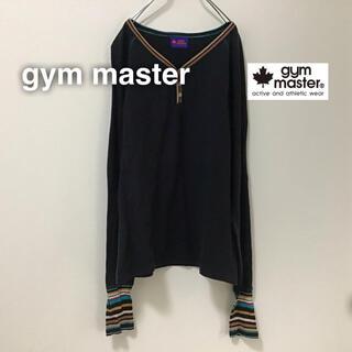 ジムマスター(GYM MASTER)のgym master ジムマスター 長袖 ロングスリーブ ボタン ブラック 黒(Tシャツ/カットソー(七分/長袖))