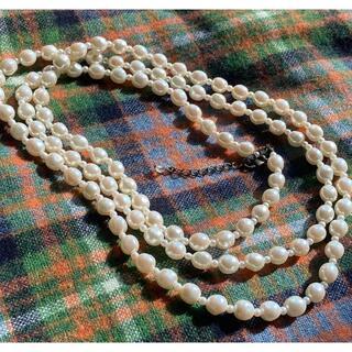 aquagirl - aquagirl アクアガール ロングパールネックレス 美品 真珠