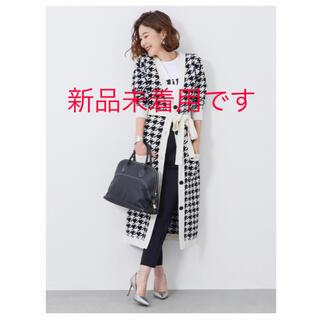 Chesty - ☆新品☆ OBLI オブリ 千鳥格子ロングカーディガン
