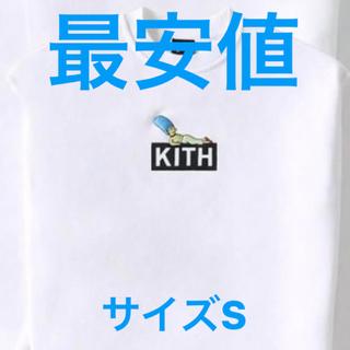 Supreme - KITH SIMPSONS シンプソンズ クルーネック 白 刺繍ロゴ