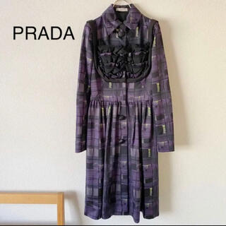 プラダ(PRADA)のPRADA 名作 コレクション ロング ワンピース 美品(ロングワンピース/マキシワンピース)