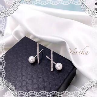 ZARA - imitation pearl pierce ♡♡♡ Silver ver