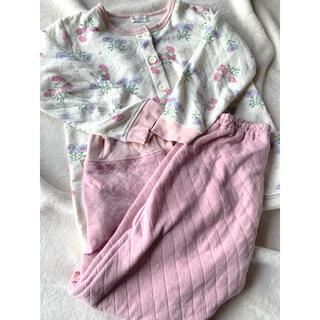 ampersand - アプレレクール アンパサンド パジャマ 花柄 ピンク 女の子 120 センチ