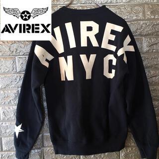 アヴィレックス(AVIREX)の【美品】アヴィレックス AVIREX スウェット トレーナー 紺 F(スウェット)