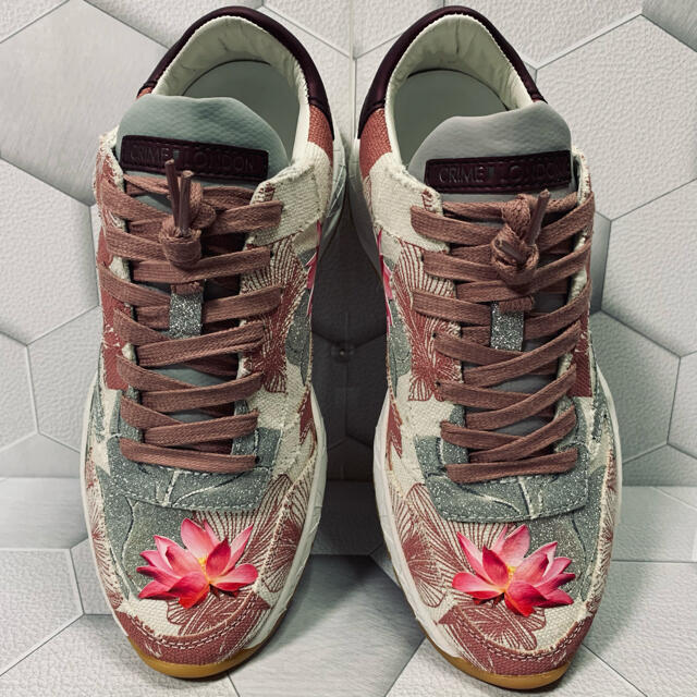 CRIME LONDON  ladies  ダッドスニーカー  24 花柄 レディースの靴/シューズ(スニーカー)の商品写真