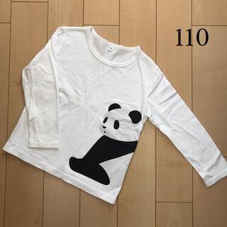 ムジルシリョウヒン(MUJI (無印良品))の無印良品 パンダTシャツ 長袖 ロンT(Tシャツ/カットソー)